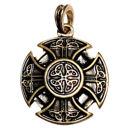 Celtic Cross Pendant - Gold Finish