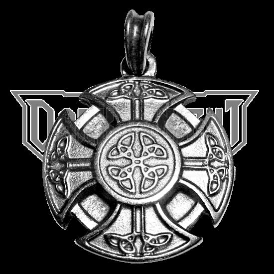 Celtic Cross Pendant - Silver Finish