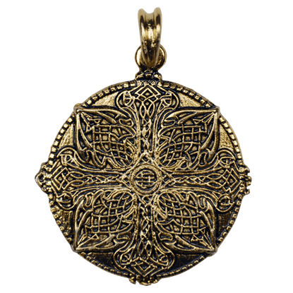 Celtic Leaf Pendant - Gold Finish