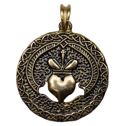 Celtic Claddagh Pendant - Gold Finish