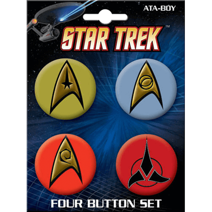 Star Trek Classic Insignia Button Set