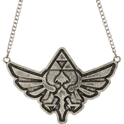 Antique Nickel Zelda Necklace