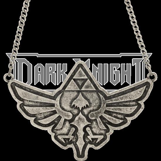 Antique Nickel Zelda Necklace
