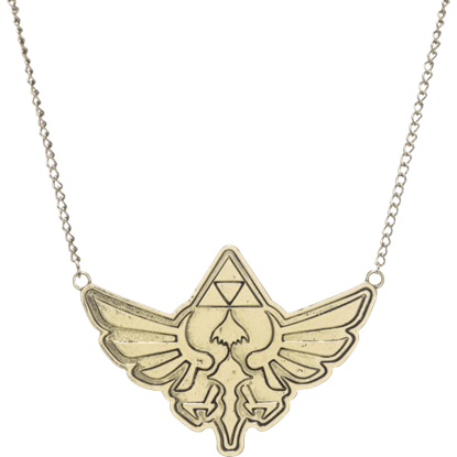 Antique Brass Zelda Necklace