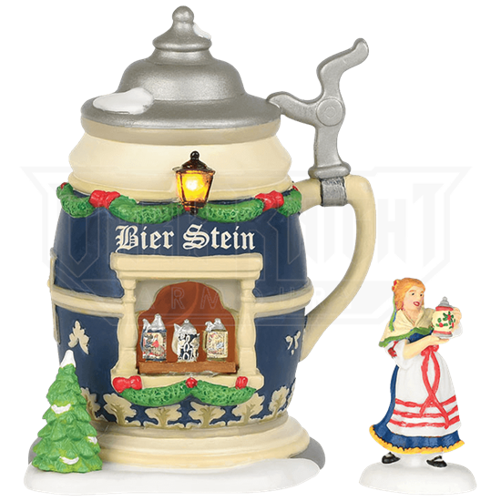 Holiday Bier Stein Booth Set - Alpine Village by Department 56