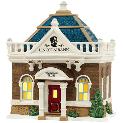 The Lincoln Bank - New England Village by Department 56