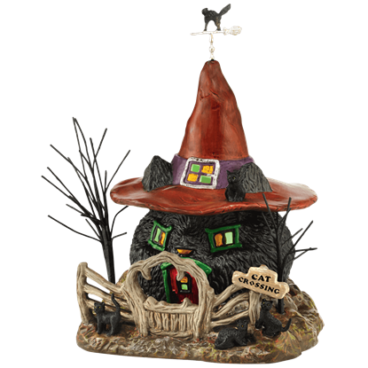 Black Cat Shack - Halloween Village by Department 56