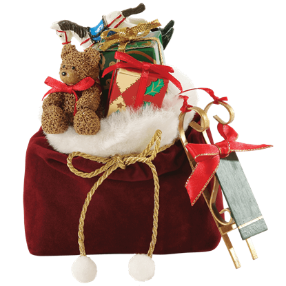 Santa's Bag - Christmas Figurine by Possible Dreams