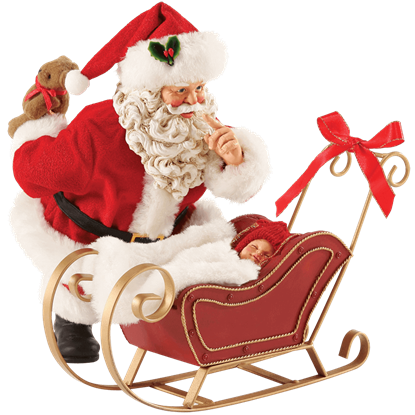 All Snug In The Sled - Santa Christmas Figurine by Possible Dreams