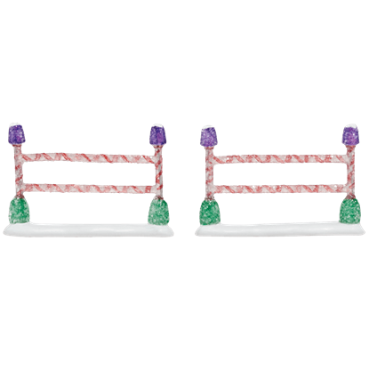 Gumdrop Park Straight Fence - Set of 2 - Village Walls, Fences, and Streets by Department 56