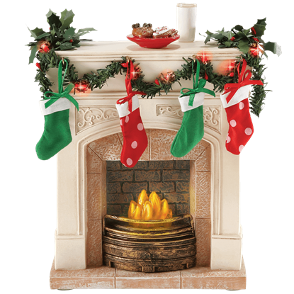 Lit Fireplace - Christmas Figurine by Possible Dreams