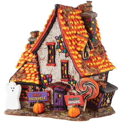 Sweet Trappings Cottage - Halloween Village by Department 56