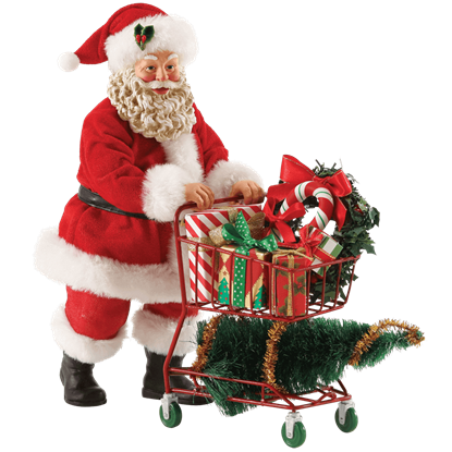 Aisle 25 - Santa Christmas Figurine by Possible Dreams