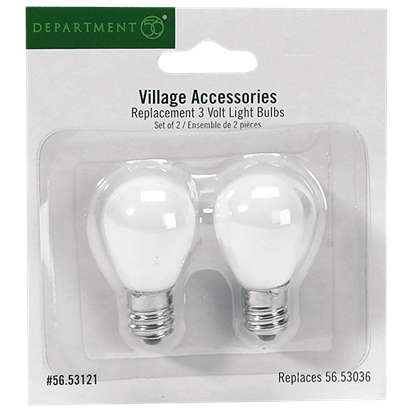 Replacement 3V Light Bulbs - Replacement Bulbs and Power Cords by Department 56