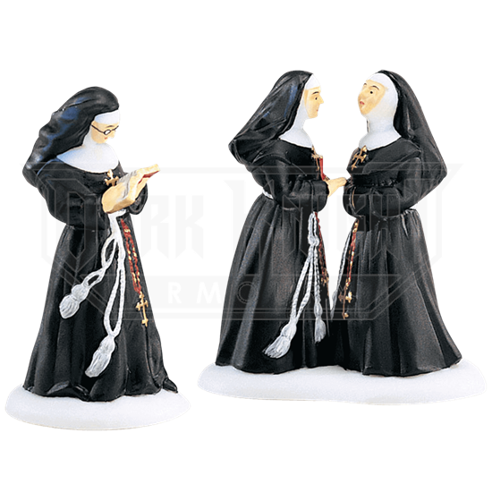Sisters of the Abbey Set - Alpine Village by Department 56