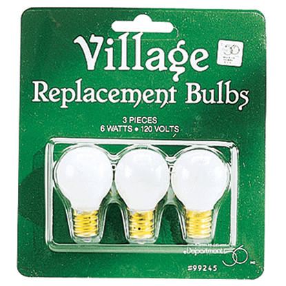 Replacement Round Light Bulbs - Replacement Bulbs and Power Cords by Department 56