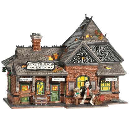 Rickety Railroad Station - Halloween Village by Department 56