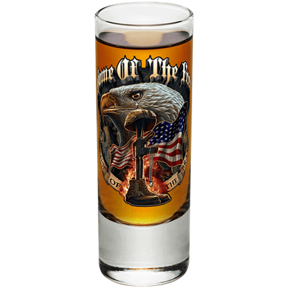 Home of the Free Battlefield Cross Shooter Glass