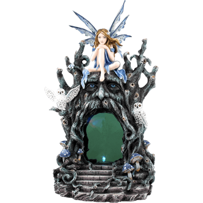 Fairy and Greenman LED Statue