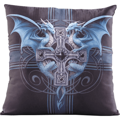 Dragon Duo Pillow by Anne Stokes