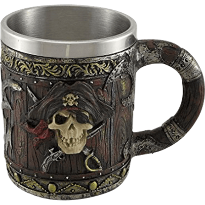 Pirate Captain Skull Tankard