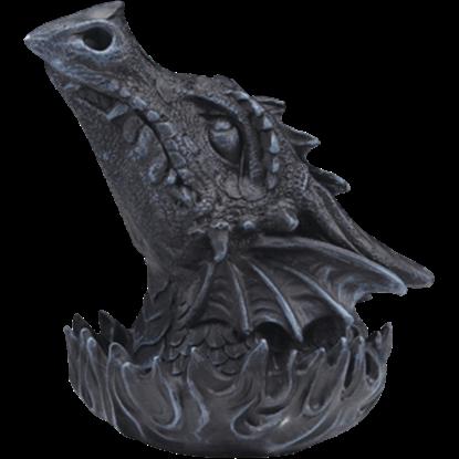 Stone Gray Dragon Head Incense Burner
