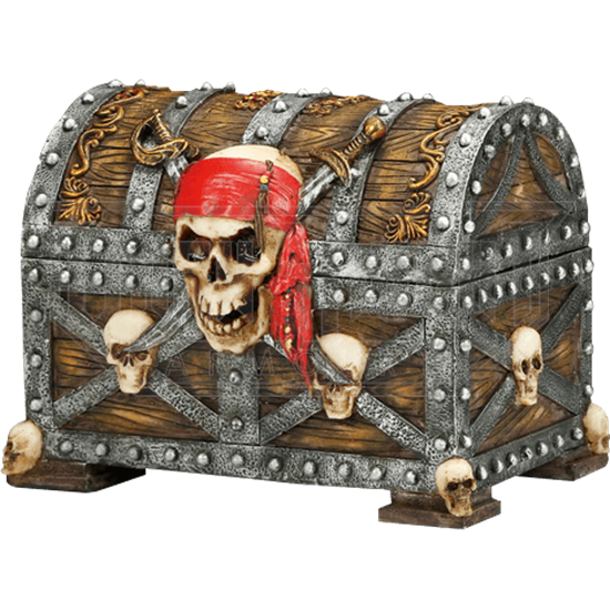 Jolly Roger Pirate Treasure Chest