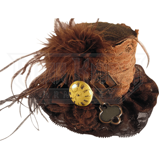 7a66b323f9ee27 Brown Lace Steampunk Mini Top Hat - MCI-6522 from Leather Armor, Leather  Armour, Steel Armor, SCA armor, LARP armor, Medieval armor, Fantasy armor  from Dark ...