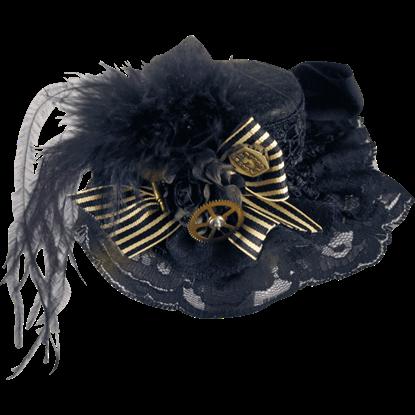 Black Petite Steampunk Hat