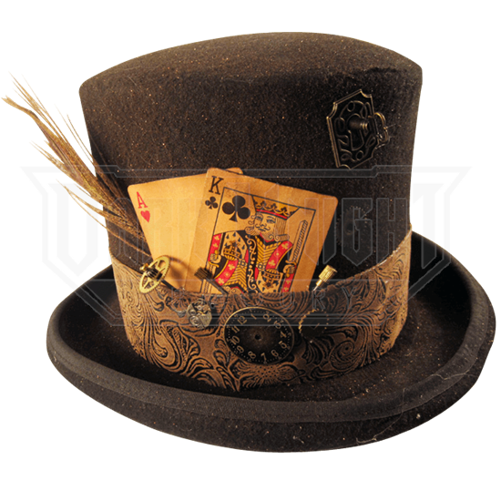 Bekend Mens Gambling Steampunk Top Hat - MCI-6533 from Leather Armor @VD17