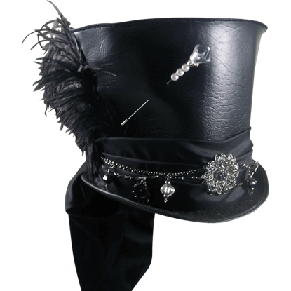 Mad Hatter Pleather Top Hat