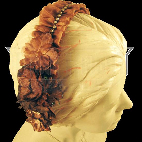 Brown Vintage Velvet Headband