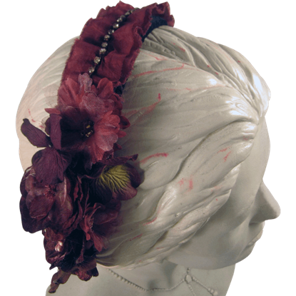 Burgundy Vintage Velvet Headband