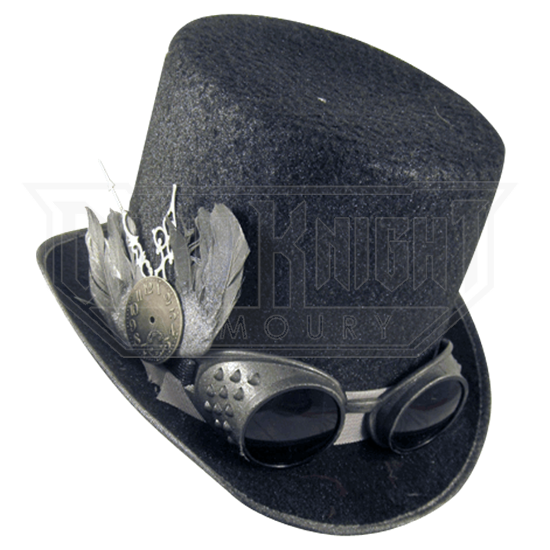 04a3a81f0059ce Men's Steampunk Top Hat with Goggles - MCI-6561 from Leather Armor, Leather  Armour, Steel Armor, SCA armor, LARP armor, Medieval armor, Fantasy armor  from ...