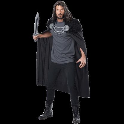 Wolf Clan Warrior Costume Cape