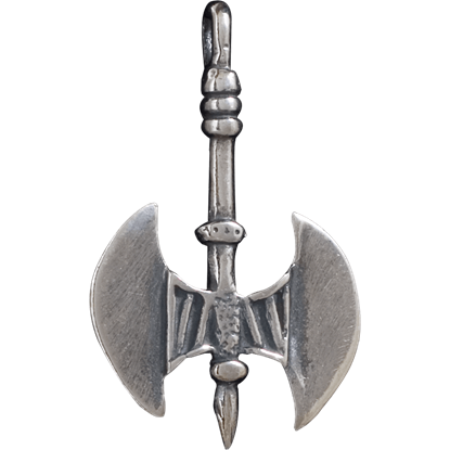 3D Double-Headed Axe Pendant