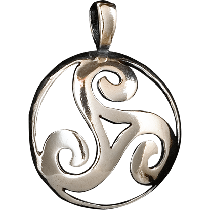 Celtic 3D Triskellion Pendant