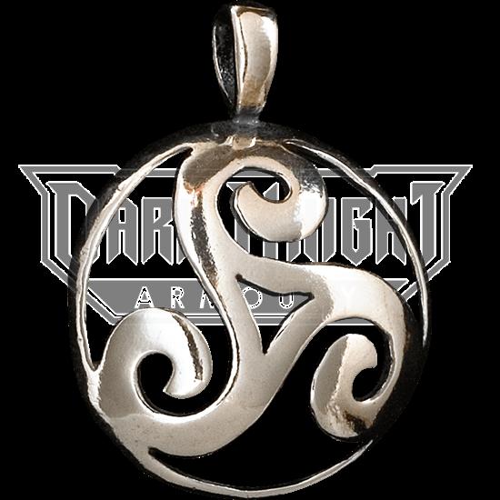 Celtic 3D Triskellion Pendant