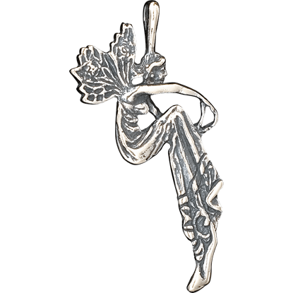 Double-Sided Sitting Fairy Pendant