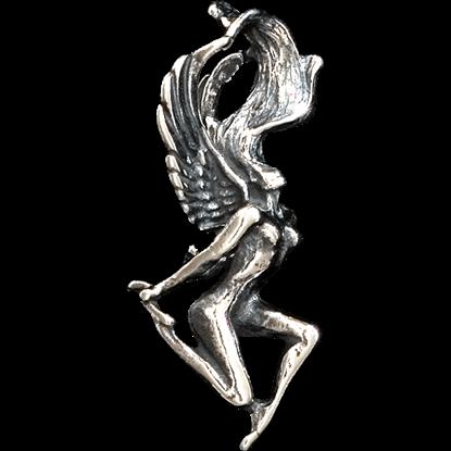 3D Frolicking Fairy Pendant