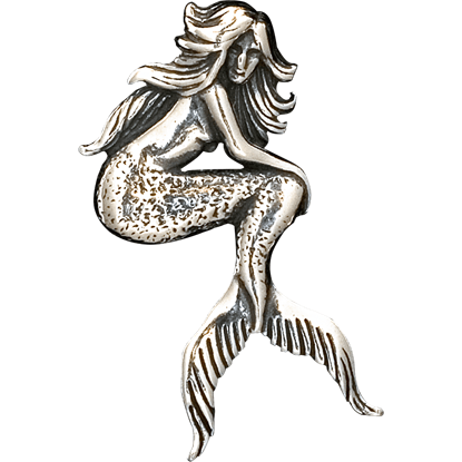 Seated Mermaid Pendant