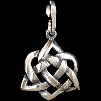 Celtic 3D Trinity Heart Pendant