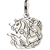 Celtic Double-Sided Horse Knot Pendant