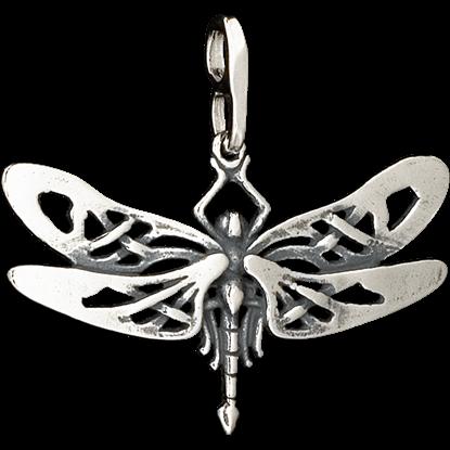Celtic Mini Dragonfly Pendant