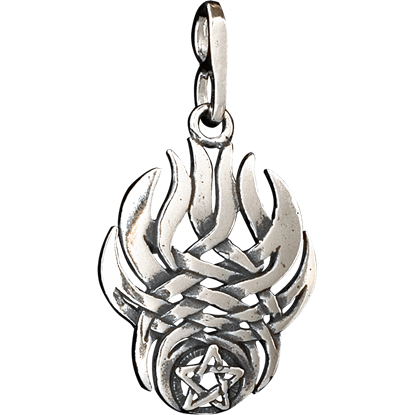 Flame Pentacle Pendant