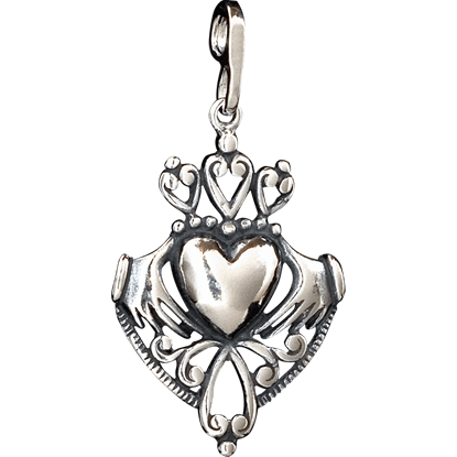 Celtic Ornate Claddagh Pendant