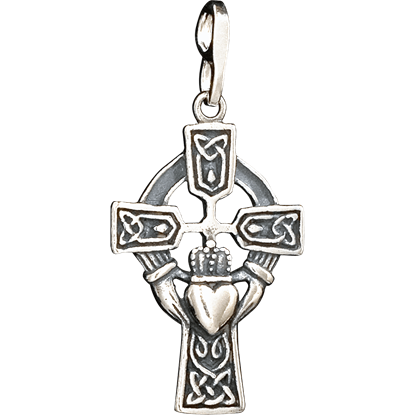 Celtic Cross Claddagh Pendant