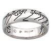 Color Scripted One Ring in Silver