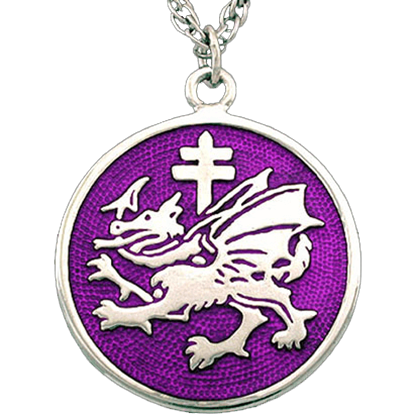 Enameled Order of the Dragon Necklace