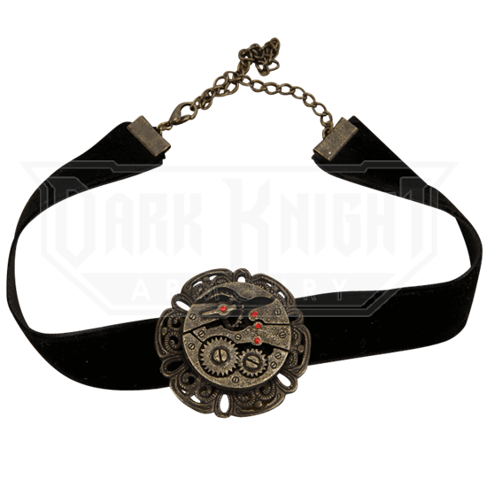 Black Steampunk Gear Choker